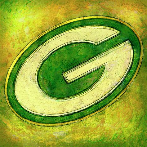 green bay packers logo painting by zulli