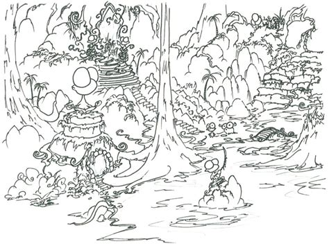 coloring pages rainforest drawn rainforest coloring page pencil and in color drawn
