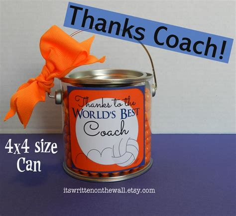 Gift Ideas For Coaches - it s written on the wall quot thanks coach quot gift card gift