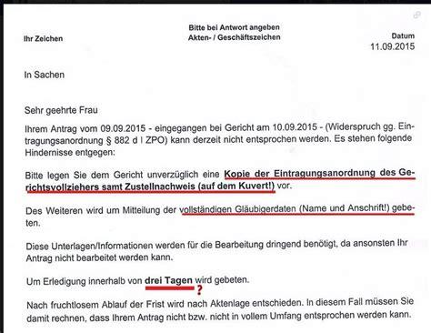 Musterbrief Widerspruch Postbank Ard Zdf Ank 252 Ndigung Der Eintragung In Das Schuldnerverzeichnis