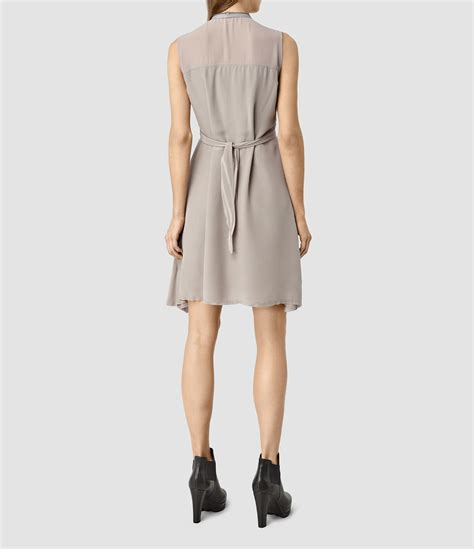All Saints Tornquist Dresses by Lyst Allsaints Jayda Dress Usa Usa In Gray