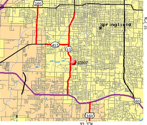 zip code map springfield mo springfield zip code map my blog