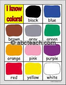 color for preschoolers chart colors primary preview 1 preschool ideas