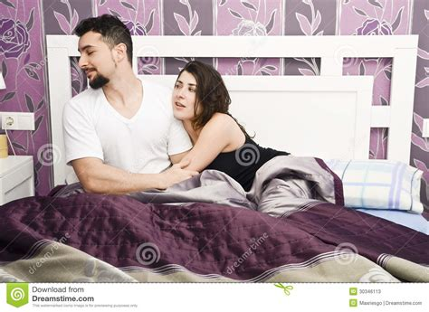 man and woman in the bedroom rejected woman stock photos image 30346113