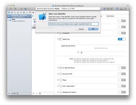 Merchant Id Lookup Apple Pay Configuration Ios Braintree Developer Documentation
