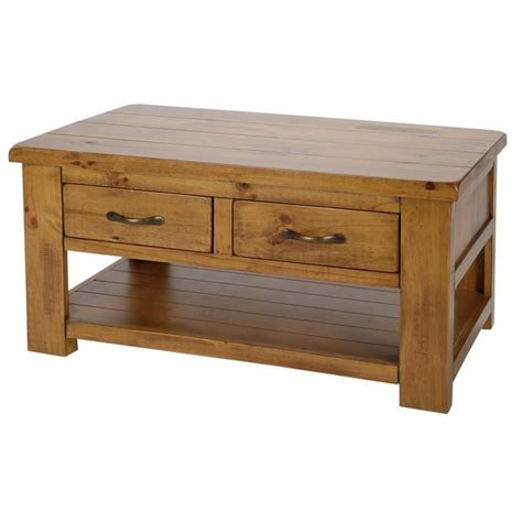 buy collection arizona 2 drawer 1 shelf coffee table