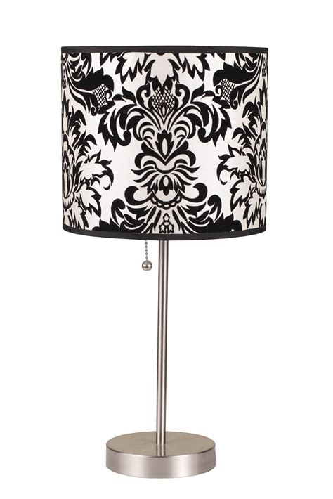 Black And White Damask L Shade Bedroom by Sweet Jojo Designs Black And White