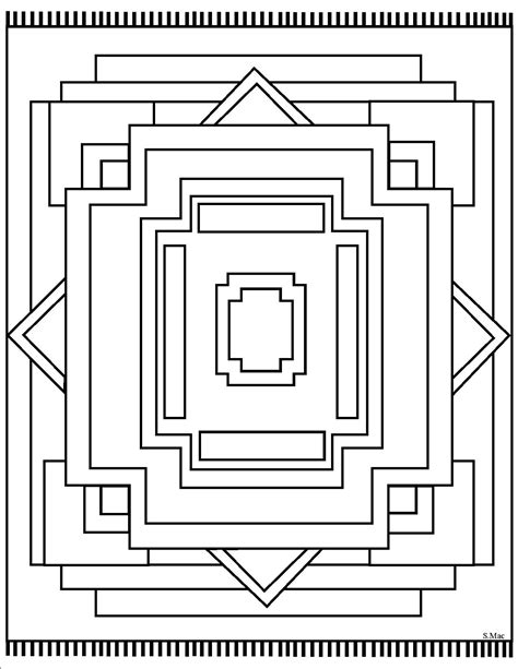Types Of Navajo Rugs by Geometric Coloring Pages S Mac S Place To Be