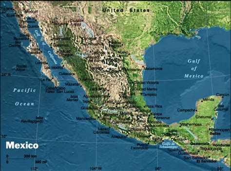 mexico physical map hsa23 map gallery