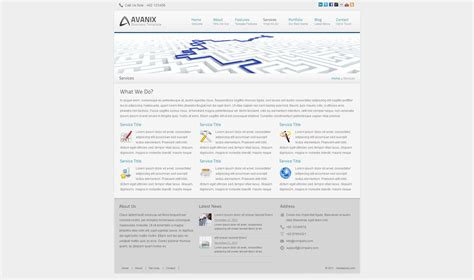 business html template avanix corporate and business html template by