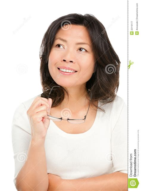 japanese middle age women thinking middle aged asian woman stock image image 22110177