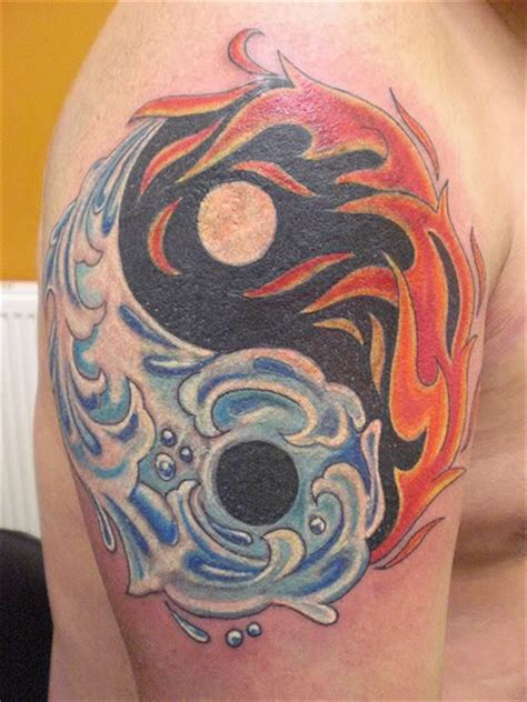 fire and ice tattoo yin yang and photo by marbucketspace
