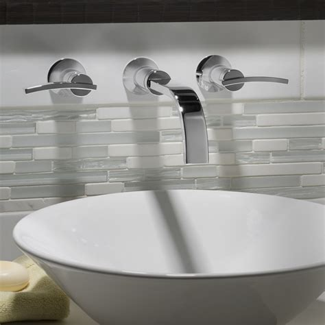 wall faucet for bathroom sink berwick wall mounted faucet lever handles