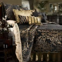 Black And Gold Bedding Sets Glenwood Black And Gold Reversible Comforter Set By Veratex Stuff To Buy