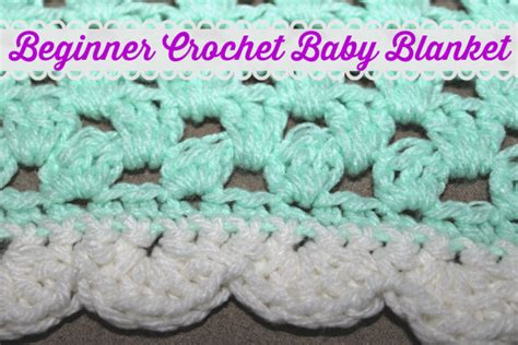 Crochet Baby Blanket Patterns For Beginners by Beginner Crochet Baby Blanket