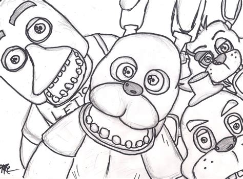 Five Night Of Freddy Coloring Coloring Pages Coloring Pages 5 Nights At Freddy S