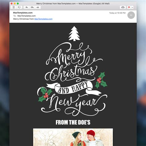 christmas email card mail stationary mactemplates com