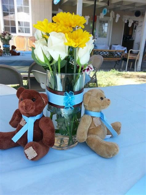 Teddy Baby Shower Centerpieces by 1000 Ideas About Teddy Centerpieces On