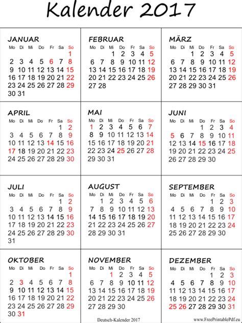Kostenloser Kalender 2017 Kalender 2017 Druck Pdf Drucken Kostenlos