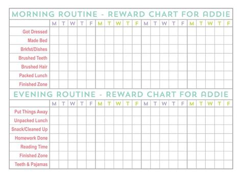 printable reward charts for 9 year olds back to school photo tips plus free printable back to