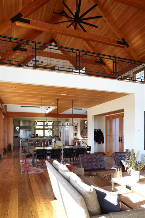 loft railing ideas living room farmhouse  farm house