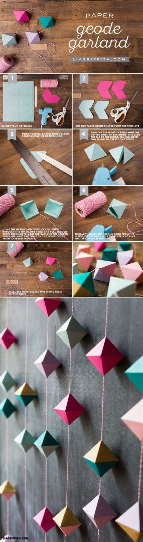 Crafts You Can Do With Paper - diy paper geode garland what s an article about paper