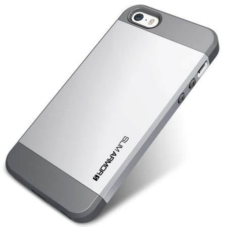 Spigen Ironman Iphone 4g 4s spigen slim armor s for iphone 5s 5 silver