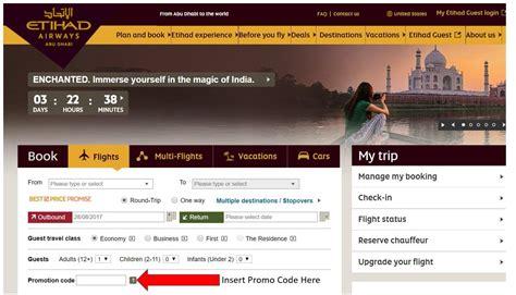etihad airways promo codes deals