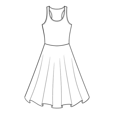 dress template dress outline template www imgkid the image kid