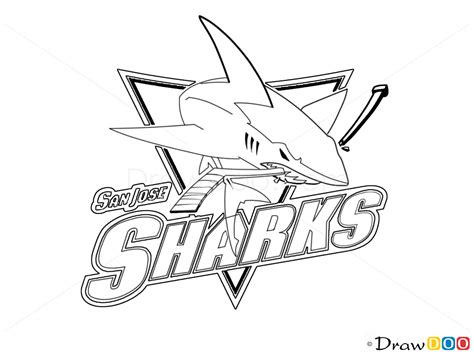 san jose sharks coloring page how to draw san jose sharks hockey logos how to draw