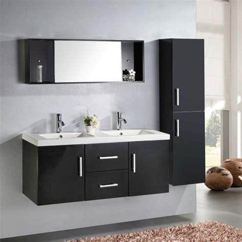 bagno bianco nero mobile bagno taiti 120 cm bianco o nero doppio lavabo in