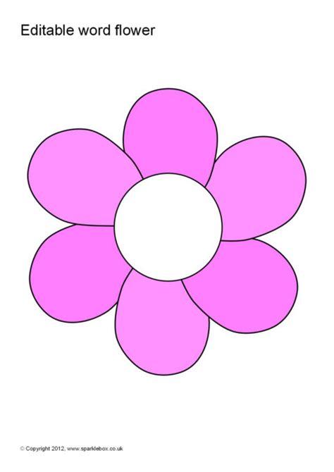 editable wordvocabulary flowers