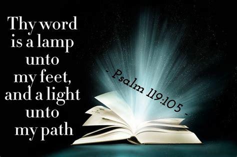 a l unto my feet thy word is a l unto my feet and a light unto my path