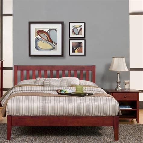 Light Cherry Bedroom Furniture Portola Platform Bed Set Light Cherry Dcg Stores