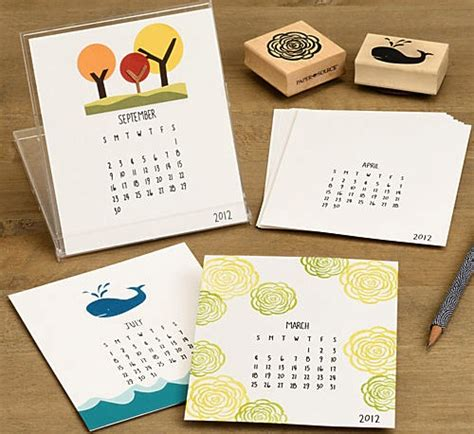 Paper Craft Calendars - 10 diy calendars for 2012