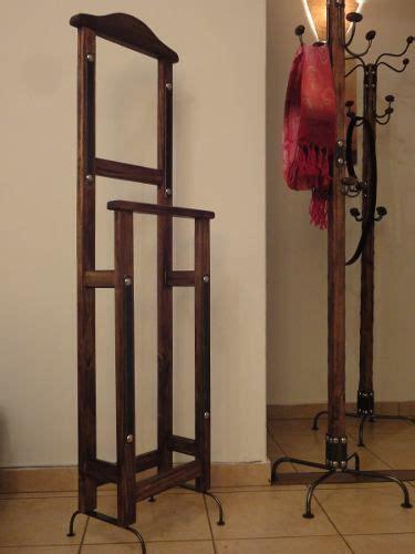 perchero valet artesanal madera hierro forjado muebles
