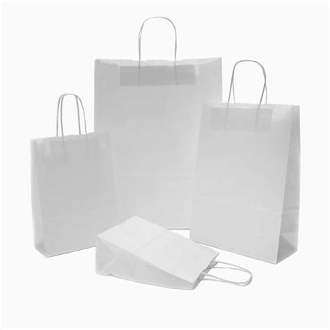 White Craft Paper Bags - white paper carrier bags coloured paper bags carrier bag