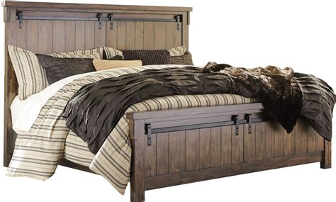 lakeleigh dark brown queen panel bed  ashley coleman furniture