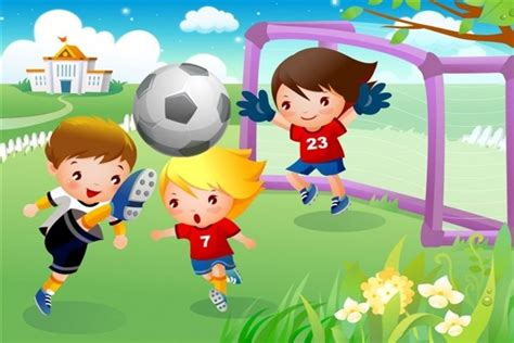 imagenes de niños jugando en el jardin de infantes ni 241 os jugando al futbol 34014