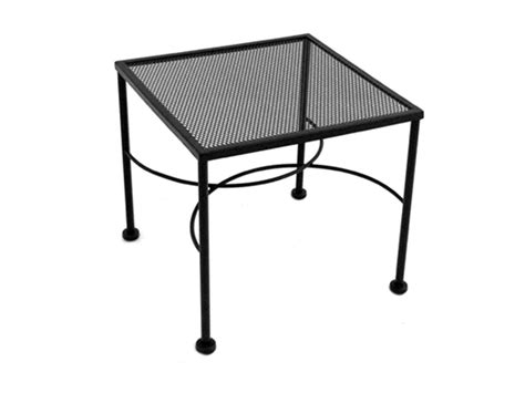 Patio End Tables Meadowcraft Wrought Iron 20 Square Micro Mesh End Table