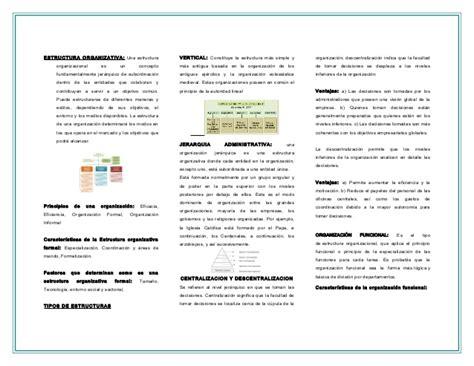 modelo triptico esslidesharenet 3 expo triptico estruct organizativas