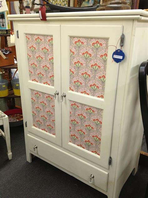 Decoupage Kitchen Cabinets - pretty paper decoupage cabinet homemaker