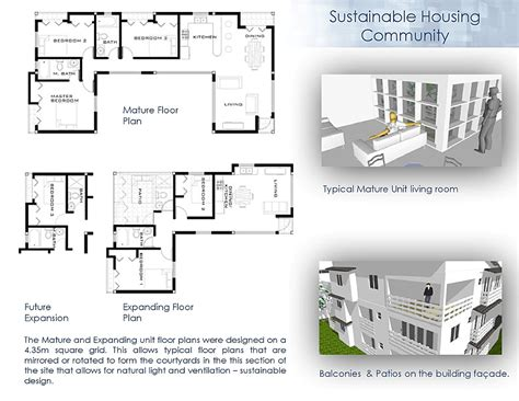 housing floor plans free sustainable community housing randy seraphin archinect