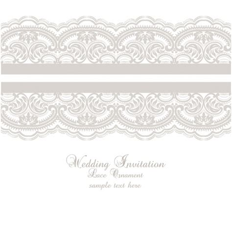 free printable wedding invitations lace lace ornament wedding invitation template vector free