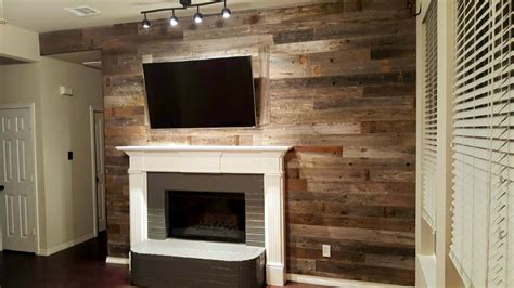 reclaimed wood accent wall adding a reclaimed wood wall sustainable lumber company