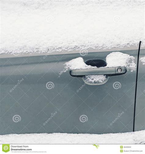 Frozen Car Door by Winter Freezing Car Frozen Handle Door Vehicle Stock