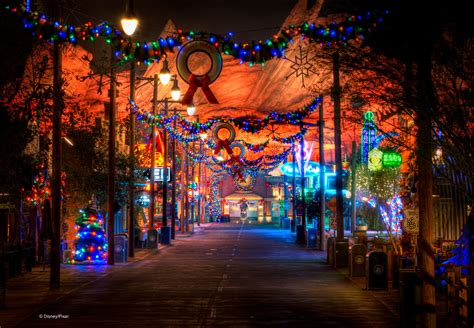adventure park holiday lights holidays shine bright in cars land at disney california adventure park disney parks