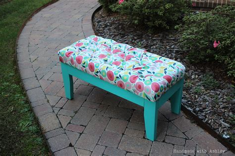 diy padded bench ana white diy upholstered bench diy projects