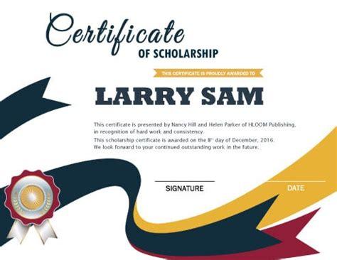 ffa certificate template scholarship certificate hloom ffa certificate template