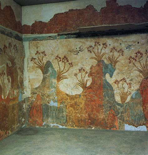 fresco ancient ancient greece frescos